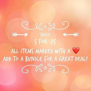 ❤️❤️❤️5 for $25 ❤️❤️❤️ all items marked with ❤️